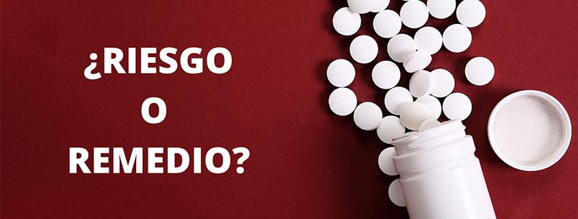 Imagen de aspirina riesgo o remedio