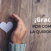 Gracias Quiropráctica Barcelona Compartir